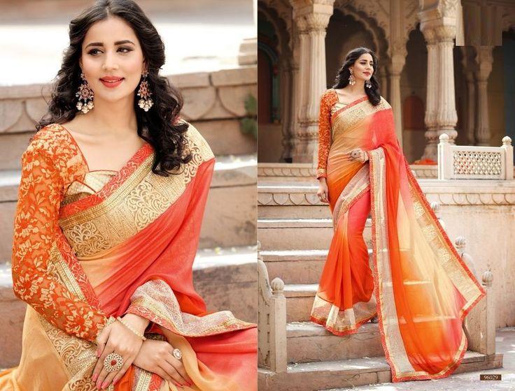 Saree Indian Ethnic Pakistani Bollywood Designer Sari Wedding Party 96029