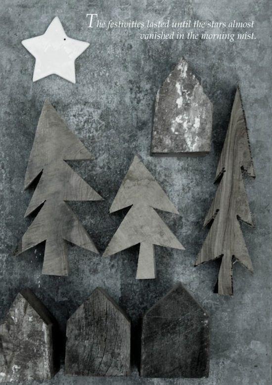goodbye summer. hello winter.: Mondays Christmas, Basic Label Sweden Basichus, Christmas Decor Ideas, Barns Woods, 13- Jul, Scandinavian Christmas, Rustic Christmas, Christmas Trees, Woods Crafts