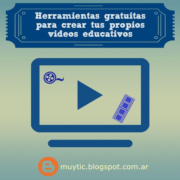 4 herramientas gratuitas para crear tus propios videos educativos | TIC para la educación