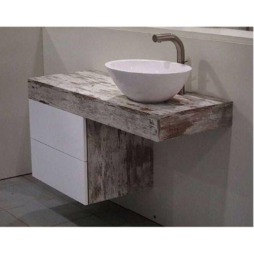 Encimeras de ba o vintage ba o pinterest encimeras - Encimeras de madera para bano ...