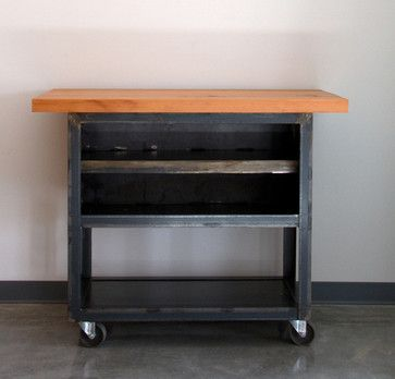 The Urbanization   Factory Utility Cart - traditional - kitchen islands and kitchen carts - orlando - by Barn Light Electric Company