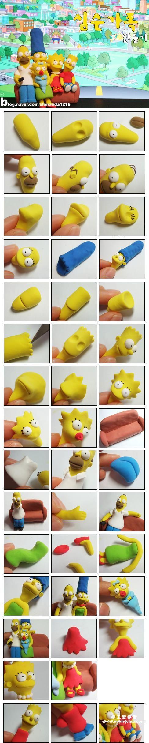 Tuto fimo : La famille Simpson | Bijoux sucrés, Bijoux fantaisie, Bijoux gourmands, Pâte Fimo, Nail Art et Miniatures gourmandes