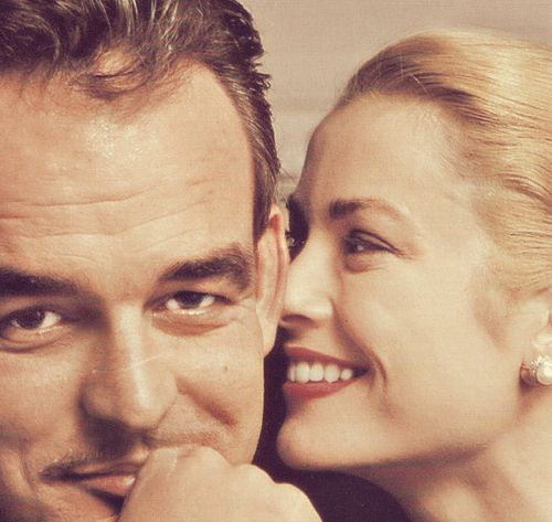 such a cute photo of the royal couple - The prince of Monaco and his princess, Grace Kelly.