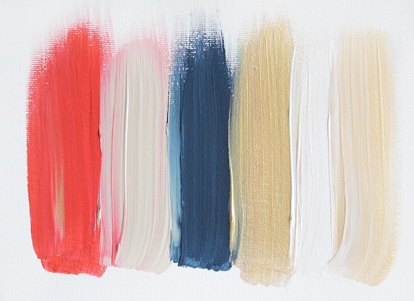 mini paintings by Jenn Ramos // inspiring color palettes!