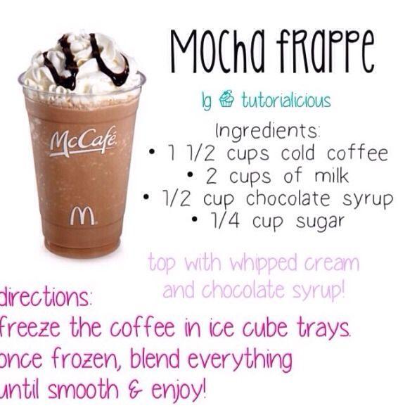McDonald mocha frappe                                                                                                                                                     More