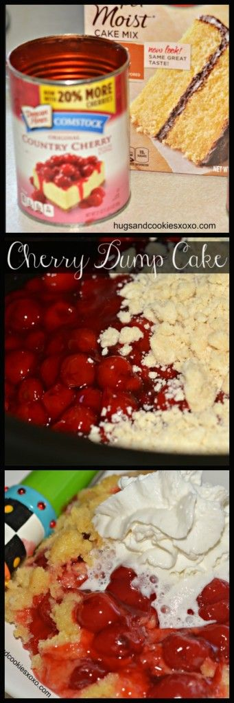 Slow Cooker Cherry Dump Cake!!! Hugs & Cookies xoxo