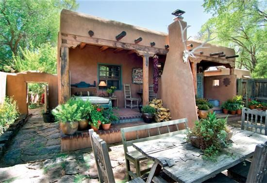 107 best images about southwest home on pinterest adobe for Santa fe adobe homes