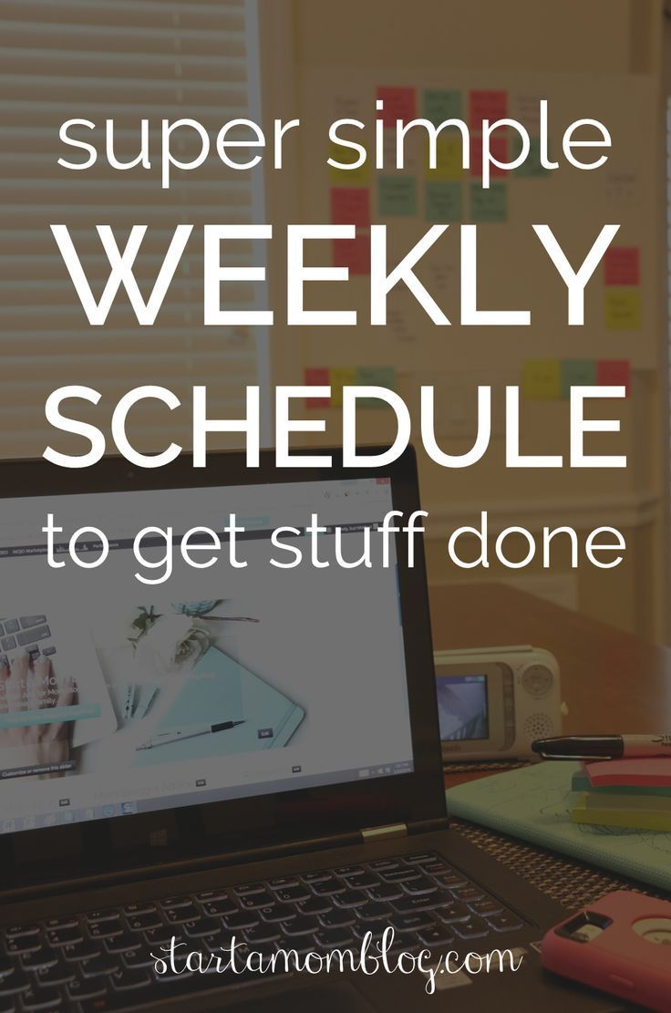 Super simple weekly schedule to get stuff done. This is how I organize my life with Post it notes. I use my weekly schedule every single day!