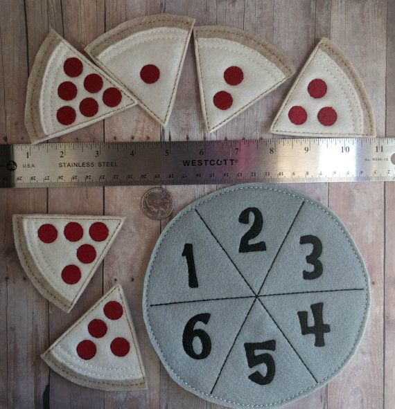 Pizza Number Matching Game Embroidered by ShopOrangeBlossoms