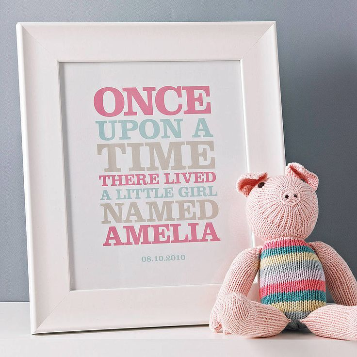 personalised 'once upon a time' print by rosie robins | notonthehighstreet.com