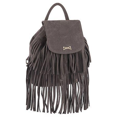 Achilleas Accessories - Προϊόντα : New Collection | FW 2014-15 / Τσάντες / Backpacks / ΤΣΑΝΤΑ ΠΛΑΤΗΣ ΜΟΝΟΧΡΩΜΗ ΣΟΥΕΝΤ ΜΕ ΚΡΟΣΙΑ