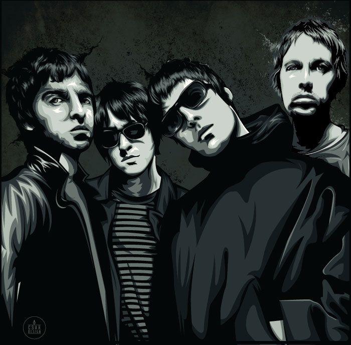 Oasis #Rock #Vector #Illustration