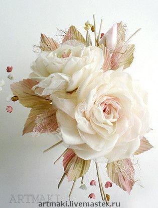 """Fiori fatti a mano.  Fiera Masters - Roses a mano """"Turanzhel"""".  Handmade."""
