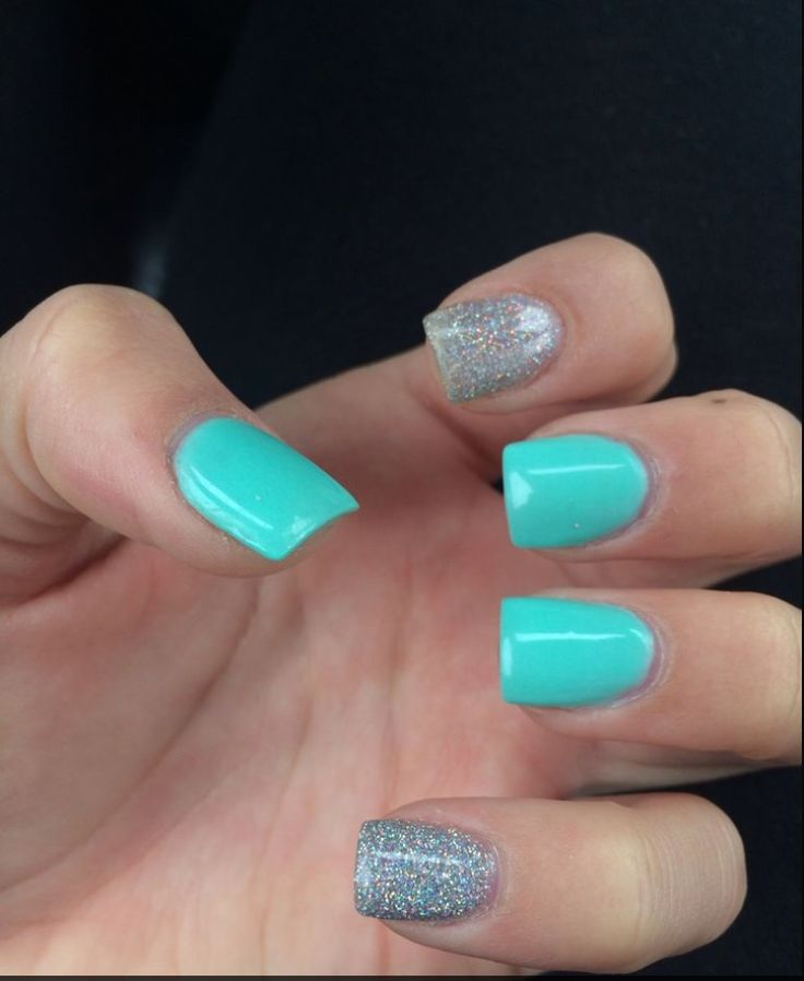 Teal acrylic nails- I really like the color combo - Best 25+ Turquoise Nail Designs Ideas On Pinterest Turquoise