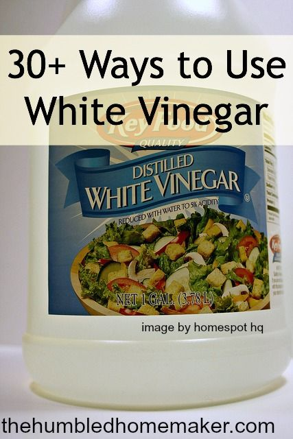 30+ Ways to White vinegar. White Vinegar is an amazing, non-toxic tool that should be in every natural homemaker's arsenal. It's natural, frugal and even edible!
