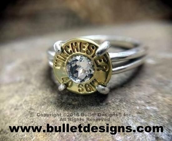 40 Caliber Sterling Silver Bullet Ring Winchester® by Bullet Designs®