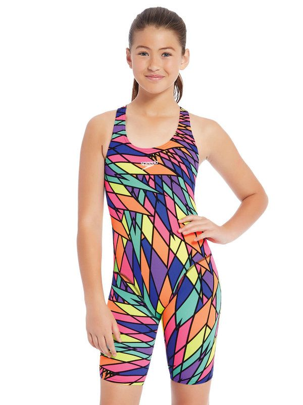 Speedo Geo Feathers Girls Kneelength 4