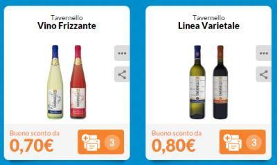 Stampa altri duenuovi buoni sconto vino FrizzanteTavernello, chardonnay o syrah-cabernet: risparmia sulla vino da tavolagrazie a questa promozione