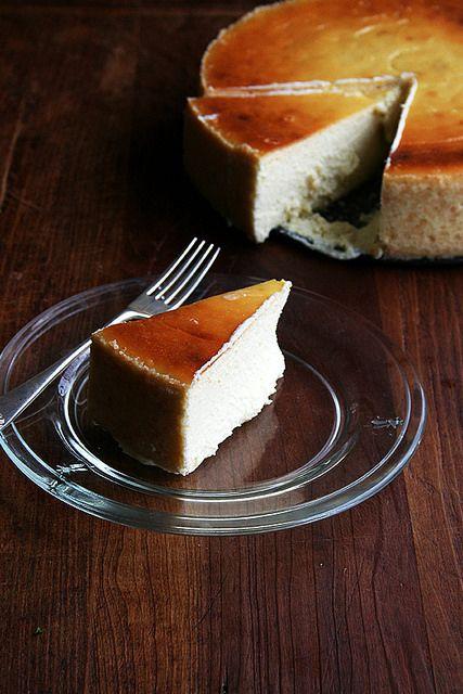 slice of lemon-ricotta cheesecake by alexandracooks, via Flickr