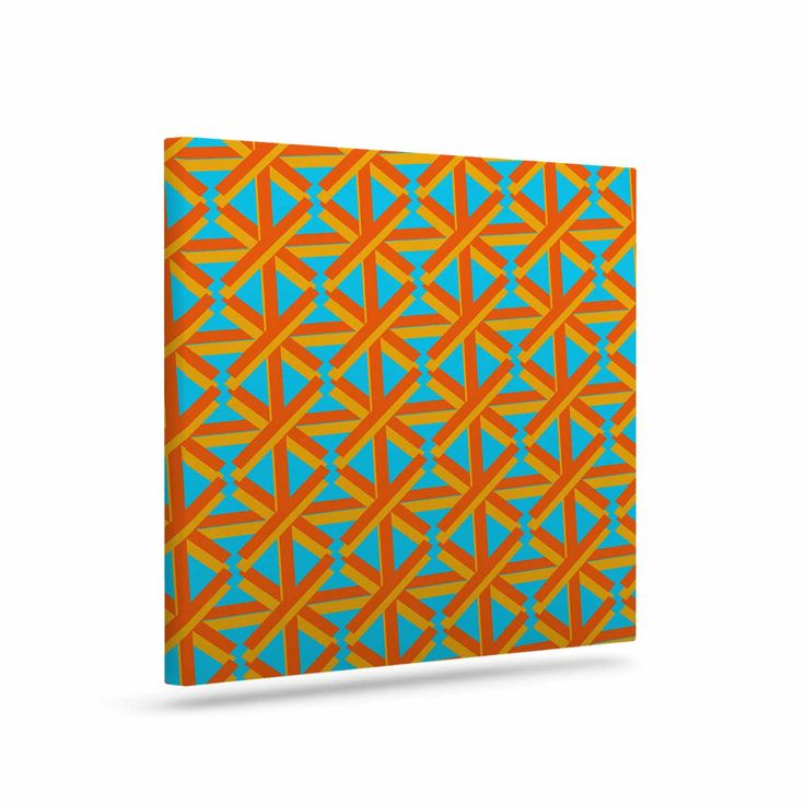 "Trebam ""Topao"" Teal Orange Canvas Art"