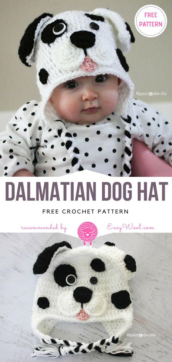 Dalmatian Dog Hat Free Crochet Pattern on easywool.com | Babies ...