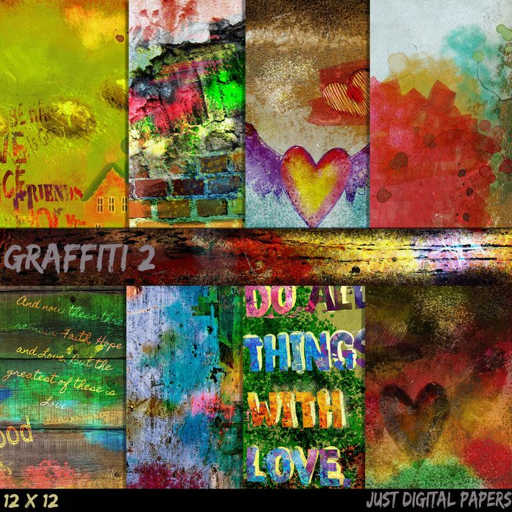 Graffiti paper 2, Grunge Papers, Brick wall Papers, Hand Painted Papers, City Papers, Teenage Papers, Instant Download, Photo Background by JustDigitalPapers on Etsy