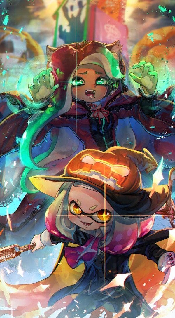 Splatoon 2 Pearl And Marina Fanart Geeky Stuff Videogames Games