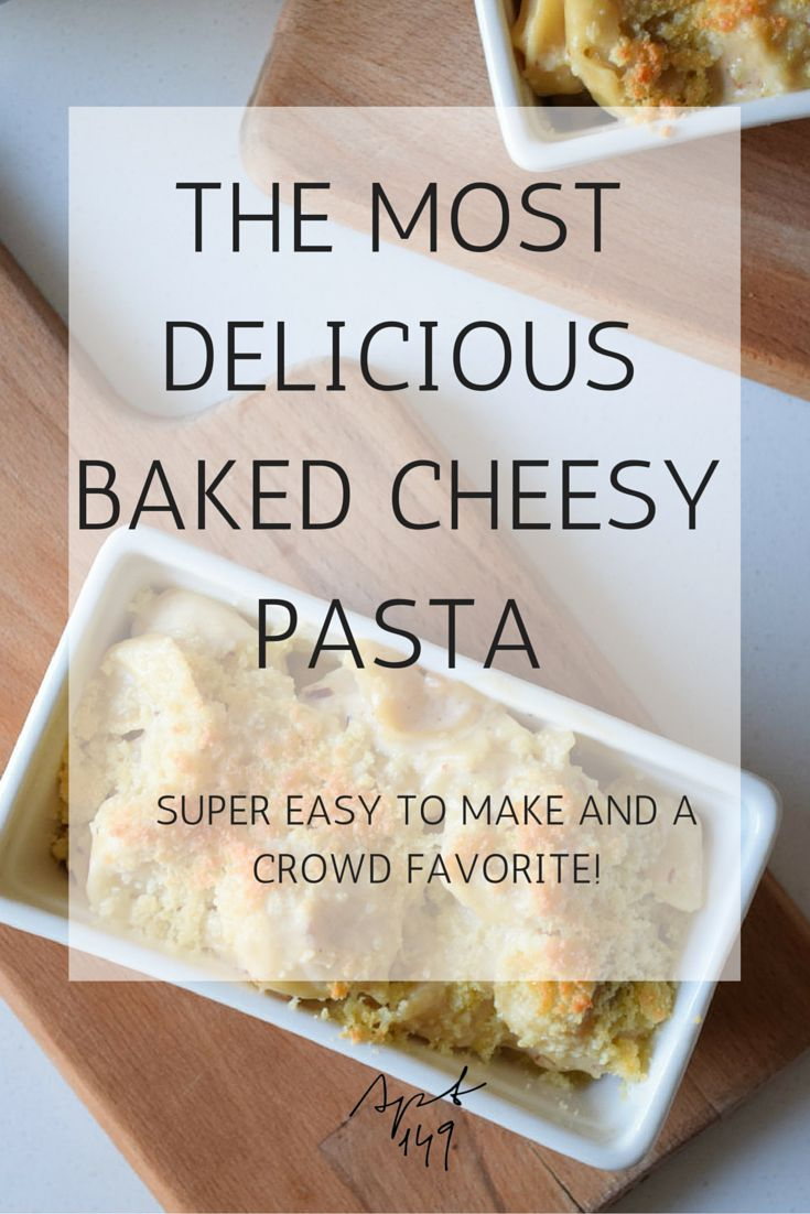 Baked Cheesy Pasta Recipe!! Super simple, delicious, packed with flavor and everyone raves about it! Perfect for both everyday dinners and special occasions. Pin it for later!