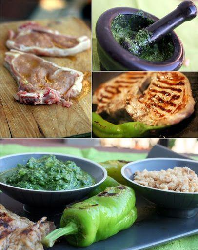 Nodini di vitello alla griglia con pesto di spinaci novelli e granella di nocciole di Giffoni