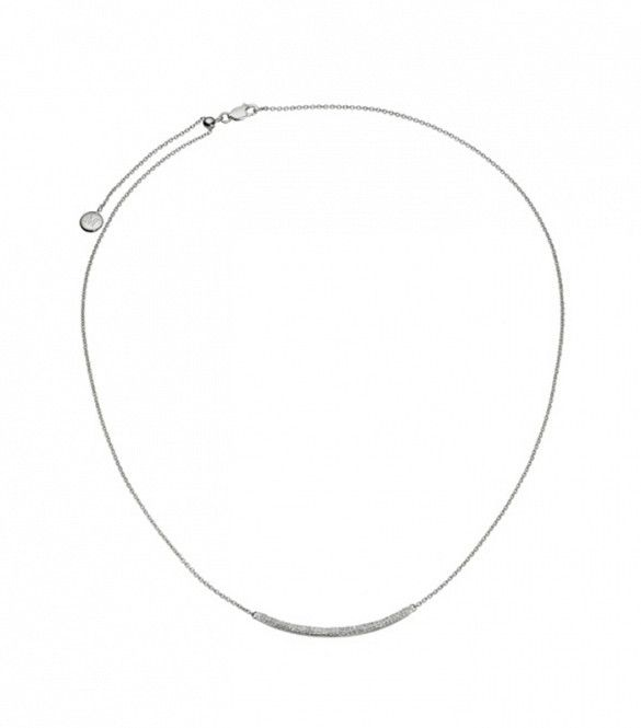 Monica Vinader Skinny Curve Necklace in Sterling Silver