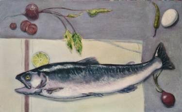 """Saatchi Art Artist Ercan Sert; Painting, """"Trout"""" #art"""