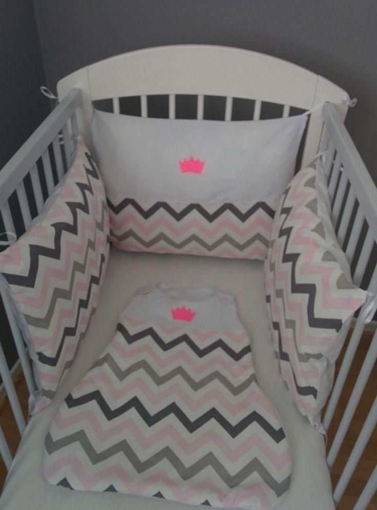 ensemble tour de lit+gigoteuse coloris au choix sur commande : Mode Bébé par creat-union