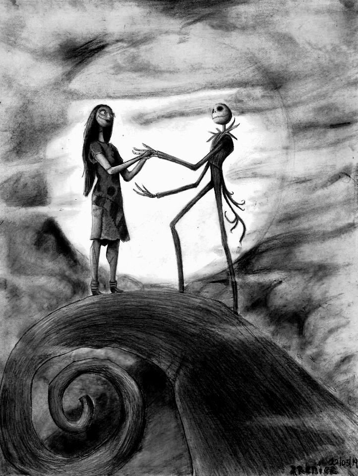 jack nightmare before christmas images | Nightmare before christmas - Jack y Sally by reniervivas666