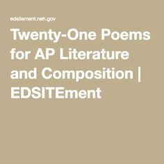 ap literature and composition essay