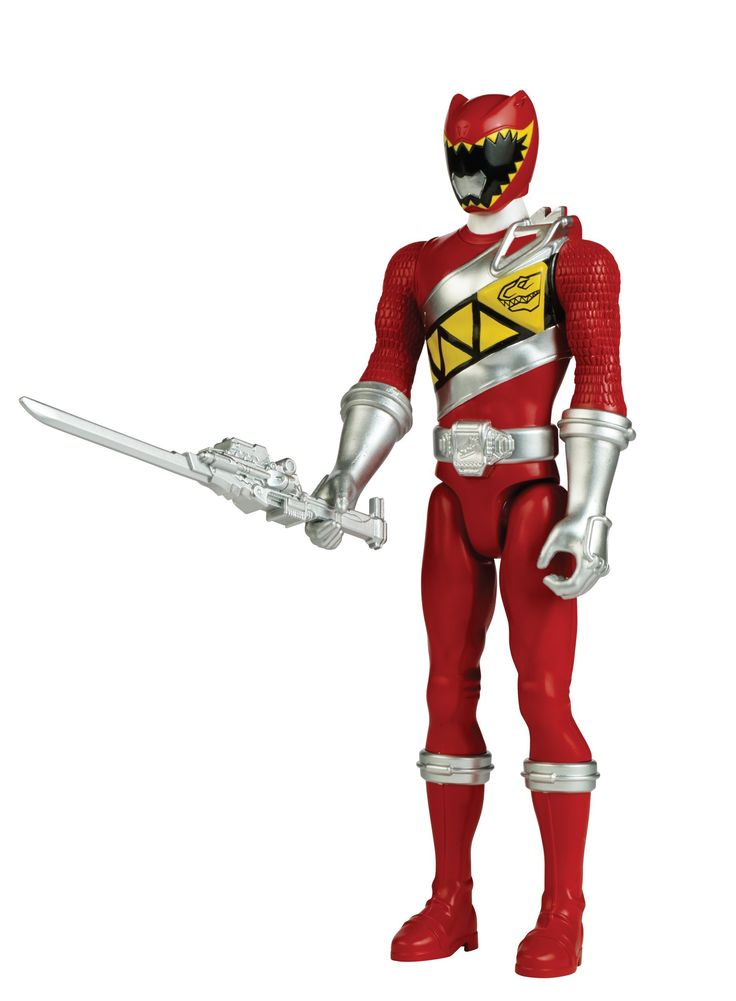 """Power Rangers Dino Super Charge - 12"""" Red Ranger Action Figure. The Power Rangers Dino Super Charge Rangers are bigger and better than ever on a 12-inch Figure scale. 12-inch Red Ranger action figure features 5 points of articulation. With their Charged Up size, the Power Rangers are armed with 1 battle gear item to defend the earth from villains. Evil doesn't stand a chance. Includes 1 battle gear item."""