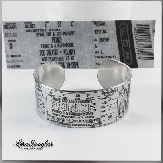 Hey, I found this really awesome Etsy listing at https://www.etsy.com/listing/399538557/prince-concert-ticket-bracelet-prince-at