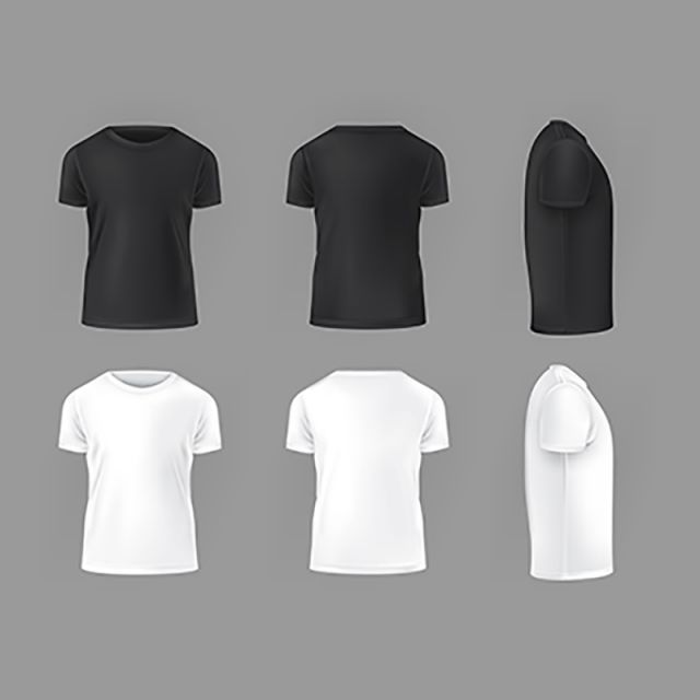 Vector Set Template Of Male T Shirts Shirt Templatefront Back Png And Vector With Transparent Background For Free Download Kaos Pria Baju Kaos Pakaian