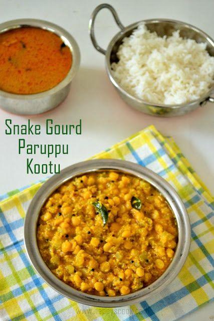 Pudalangai Paruppu Kootu Recipe | Snake Gourd Dal Kootu | Pudalangai Kootu