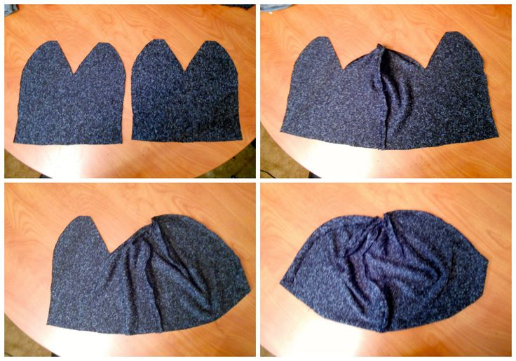 Elegance of the Mind: DIY Slouchy Beanie from knit fabric.