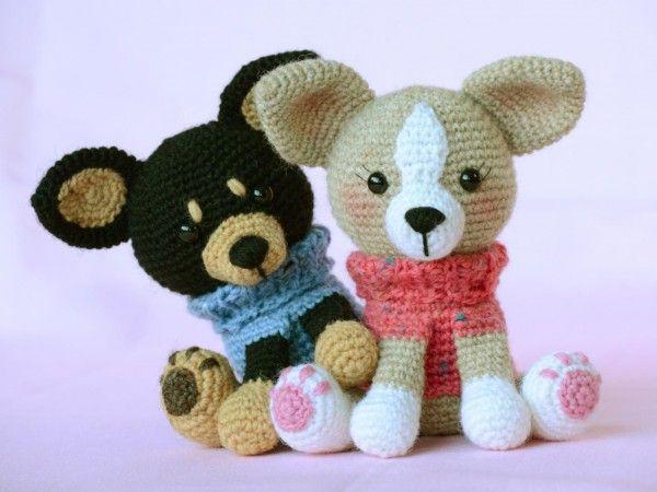 Для всех поклонников миниатюрных собачек представляем схему вязания чихуахуа, выполненной в технике амигуруми.