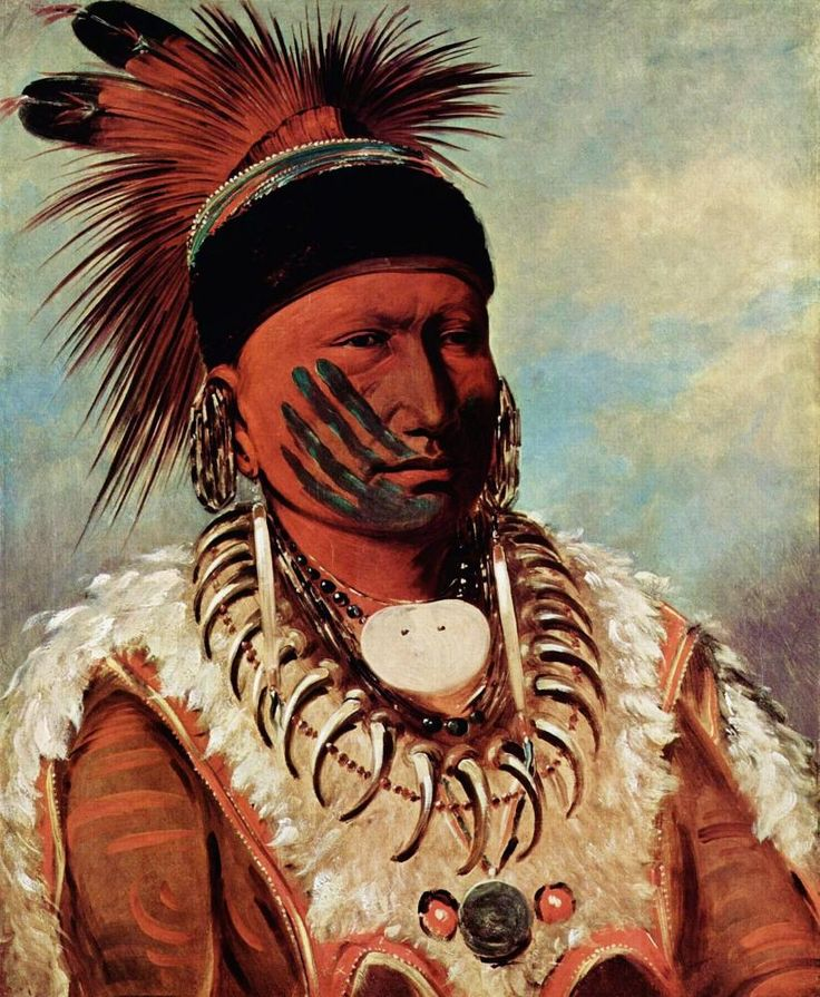 George Catlin (1796-1872) - Chief White Cloud (Iowa Indian)