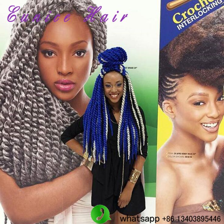 "12"" 18"" 22"" 24"" havana mambo twist braiding hair crochet braids synthetic hair extensions send free hair bead for you"