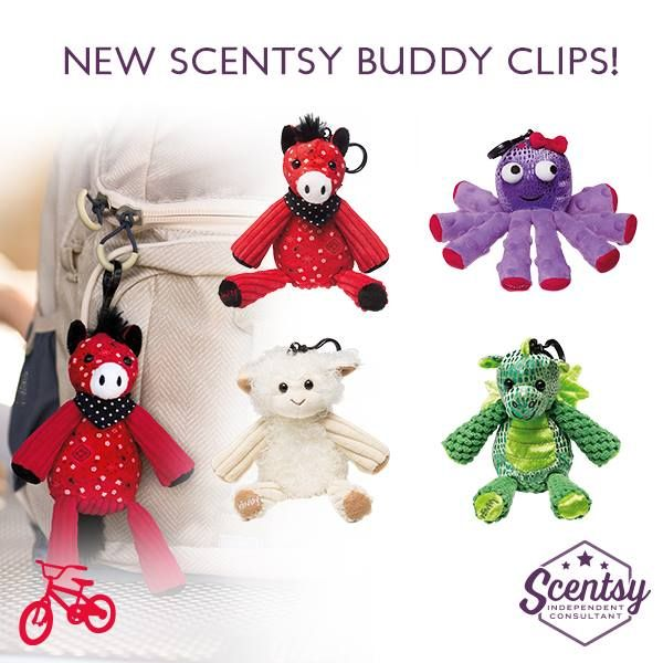 Scentsy 2015 Fall/Winter Buddy Clips ~ Available 01 Sep ...