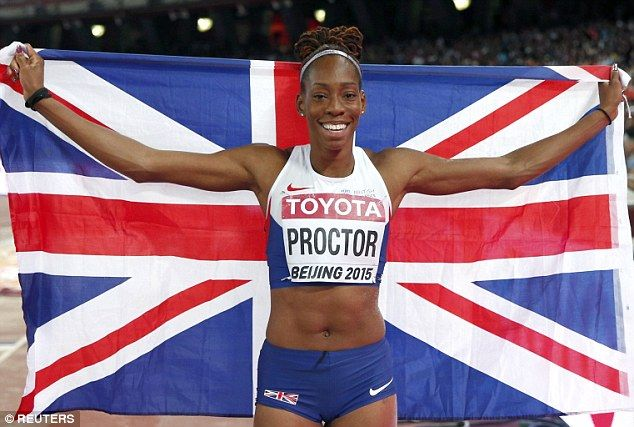 Proctor said she was 'still in awe' after jumping seven metres and seven centimetres to ta...