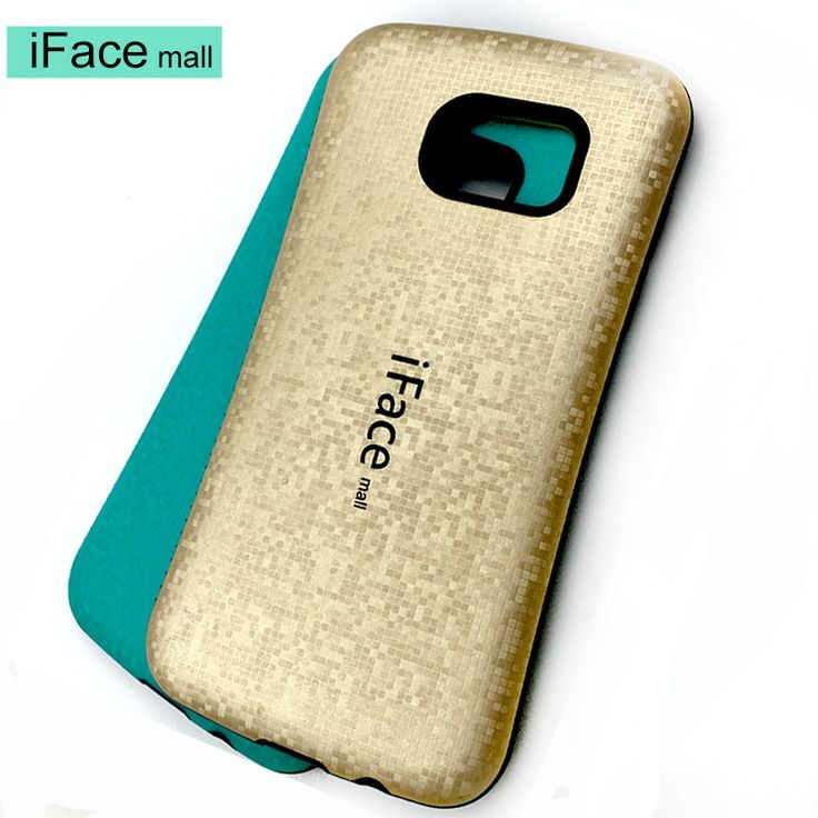 iFace mall Mosaics Style phone case For samsung GALAXY S7 Edge Solid Candy Color Hard Case Silicone back cover S5 S6 EDGE PLUS