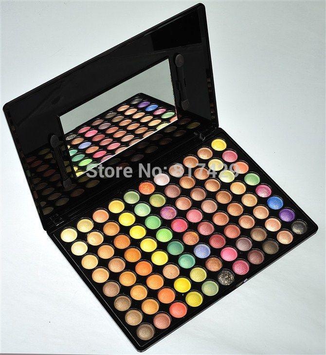Про-естественный составляют 88 цветов палитры Eyeshadow металлик матовый тени макияж kit комплект