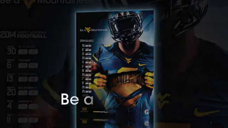 Making of the 2014 WVU Football Schedule Poster