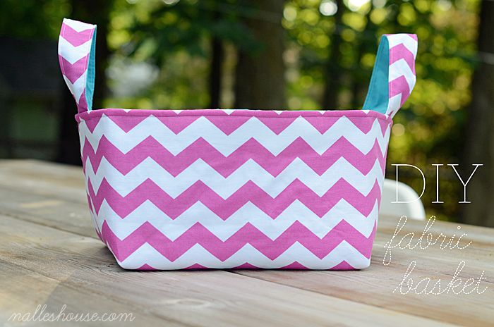 Nalle's House: MORE DIY FABRIC BASKETS