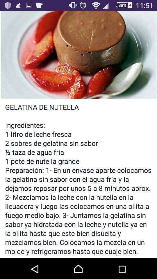 Gelatina de nutella