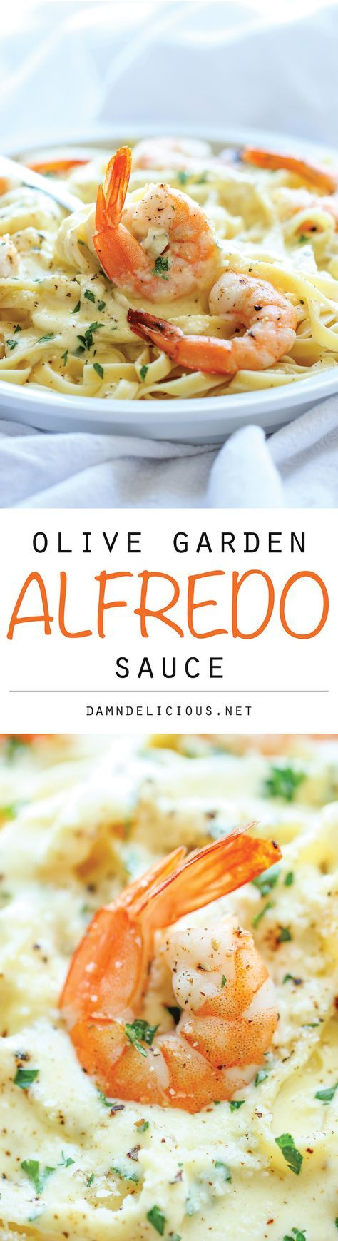 Olive Garden Alfredo Sauce - An easy, no-fuss dish you can make right at home. It's also cheaper, healthier and quicker than ordering out!